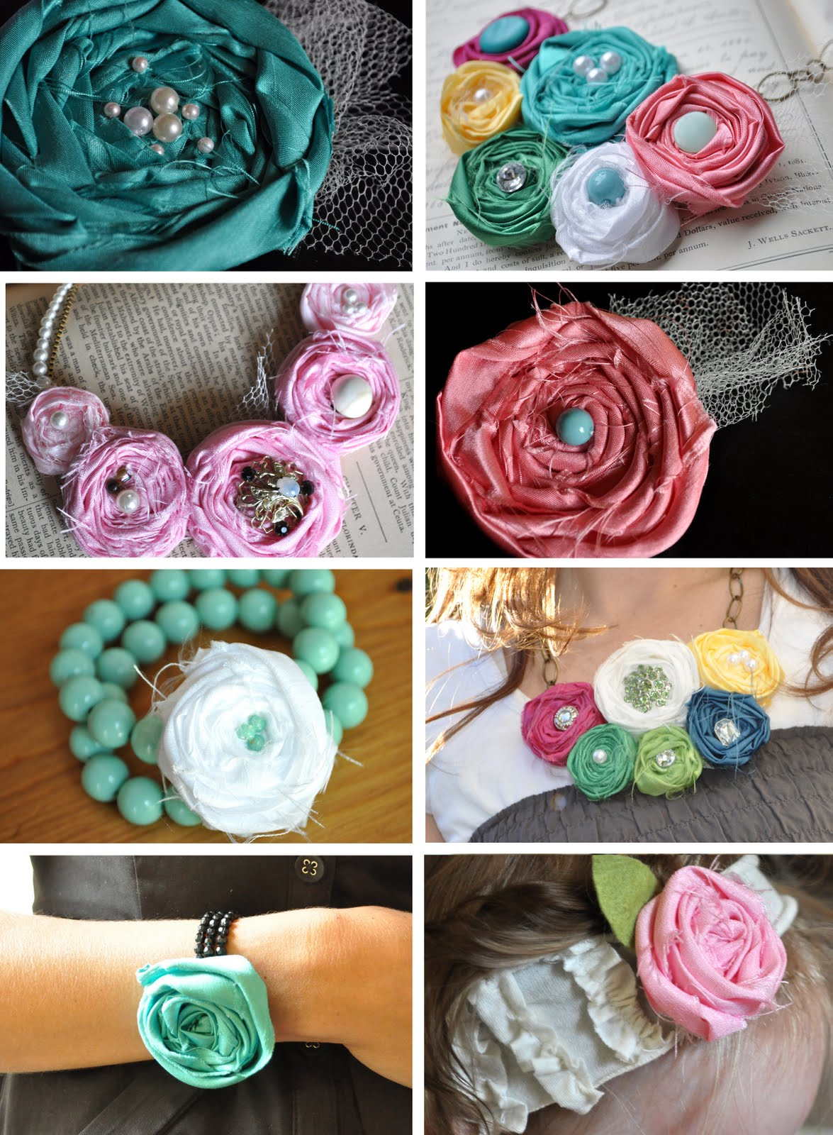 fabric rosette tutorial extravaganza! Little Birdie Secrets