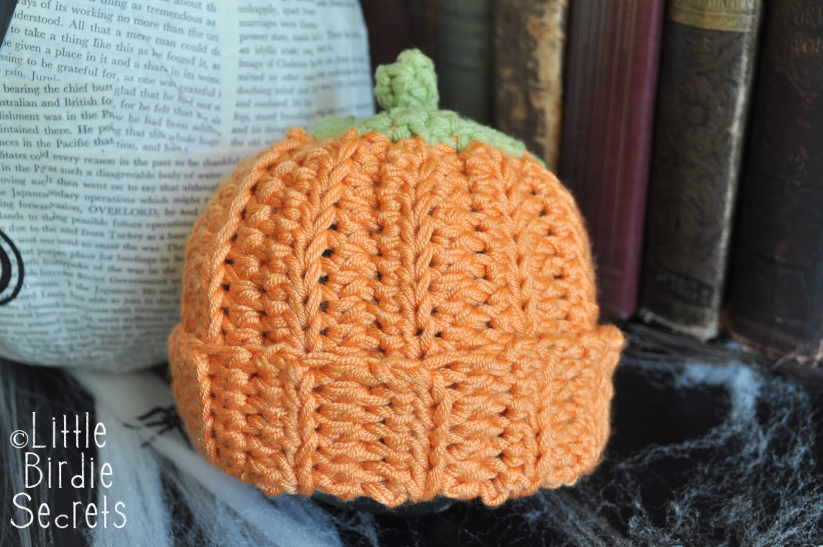 Crochet Halloween Baby Hat Pattern : pumpkin or berry baby hat - crochet pattern Little ...