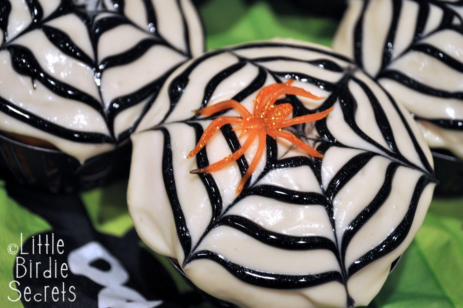 halloween spider web cupcakes | Little Birdie Secrets