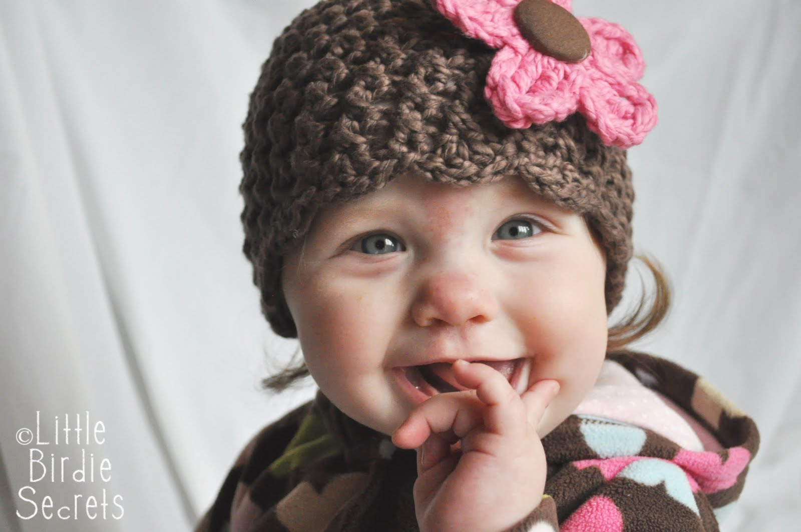 Free Crochet Baby Hat Patterns : baby hat and bootie patterns in the shop {plus a free flower pattern ...