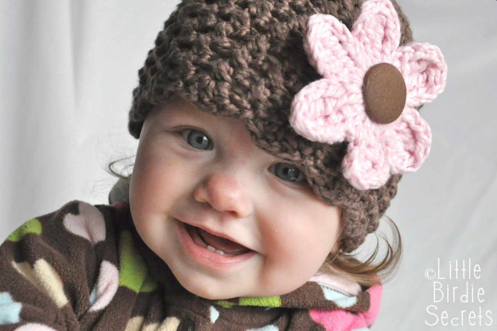Crochet Flower For Hat : new baby hat and bootie patterns in the shop {plus a free flower ...