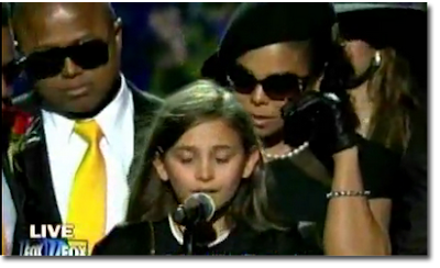 Paris Jackson Speaks at Funeral