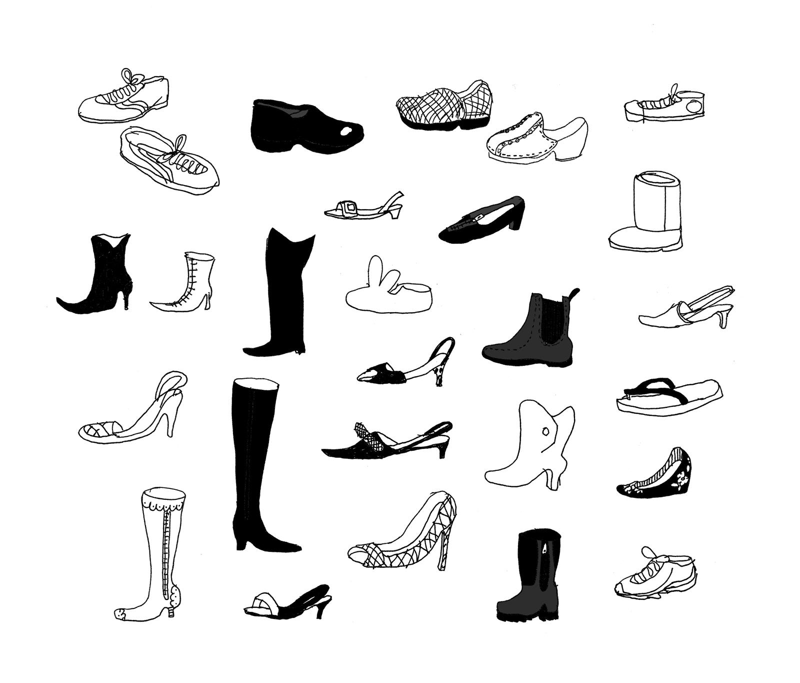 Creative Shoes Background Stock Illustration - Image 42750833