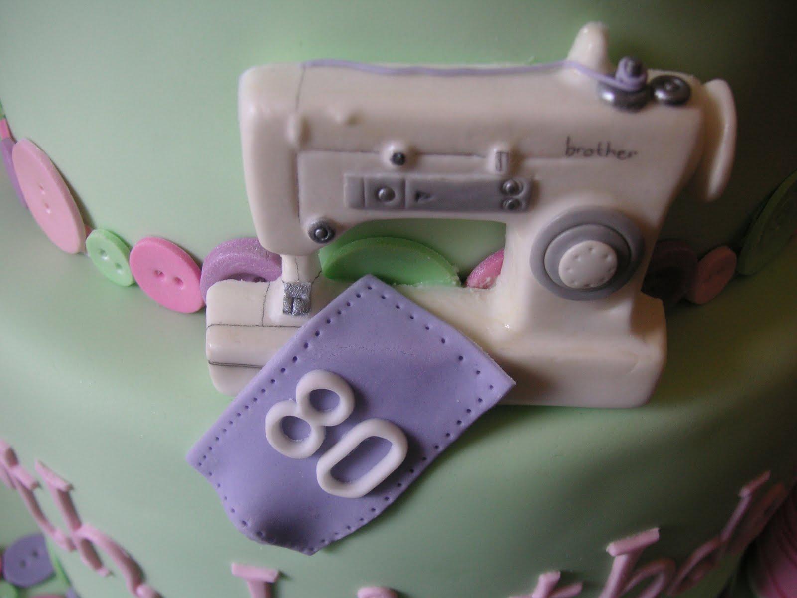 Just Call Me Martha Sewing 80th Birthday Cake