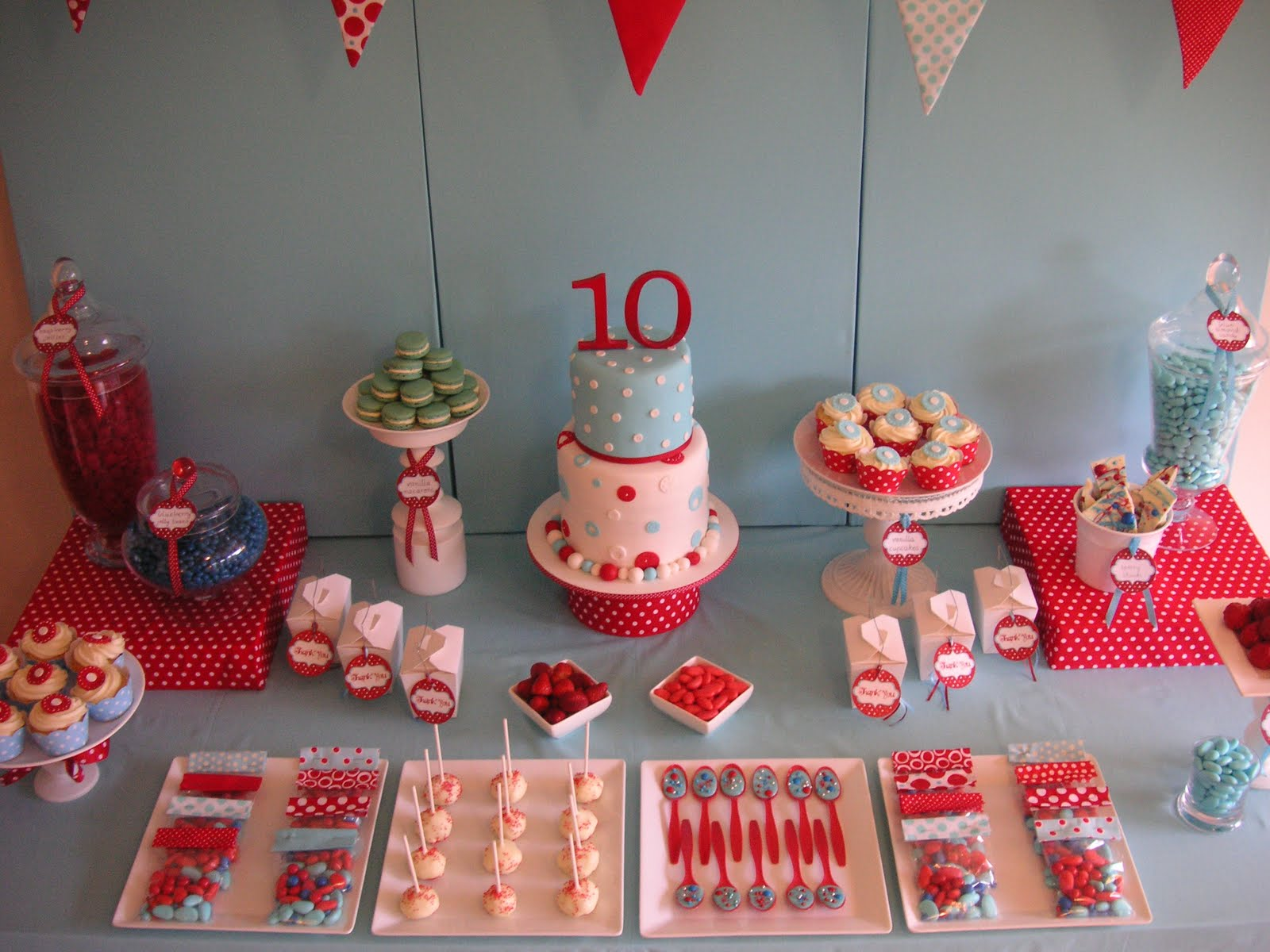 Coolest cupcakes anya 39 s 10th birthday polka dot party for Polka dot party ideas