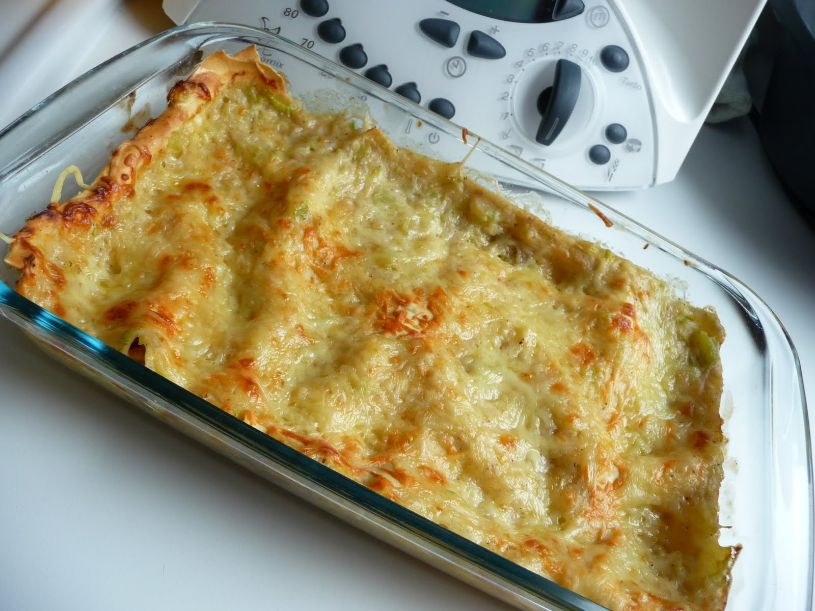 Papilles on off lasagnes thon courgettes au thermomix - Flan de courgettes au thermomix ...