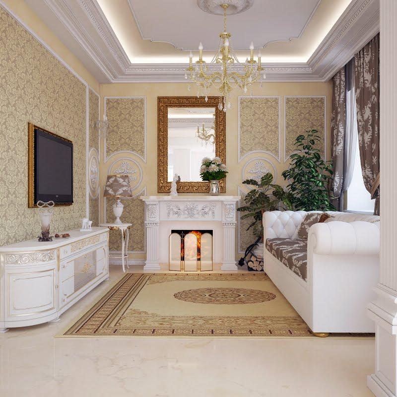 Дизайн потолков фото классика