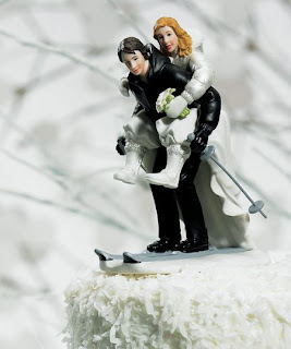Unusual Wedding Cake Toppers Sports Edition: Skiing