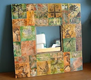 Altered Stampbord Mirror