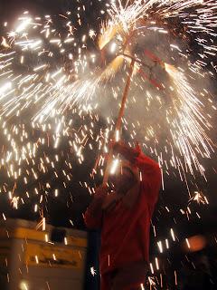Maquina de cremar al correfoc de Vinalesa