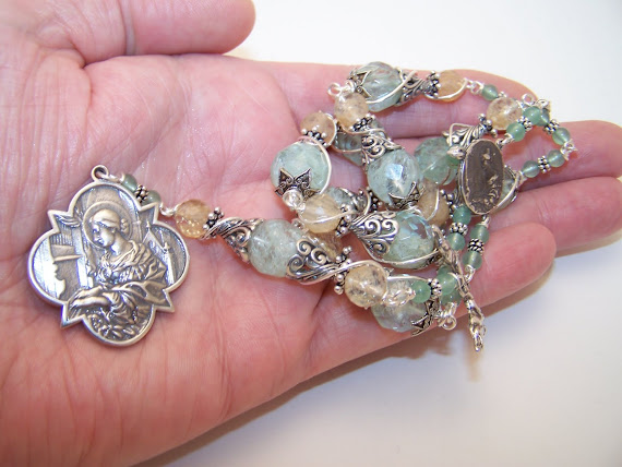 No. 106.  (SOLD) Chaplet of Saint Cecilia- Patron Saint of Musicians (NEW)