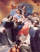 Virgin Mary Presents the Rosary to St. Dominic