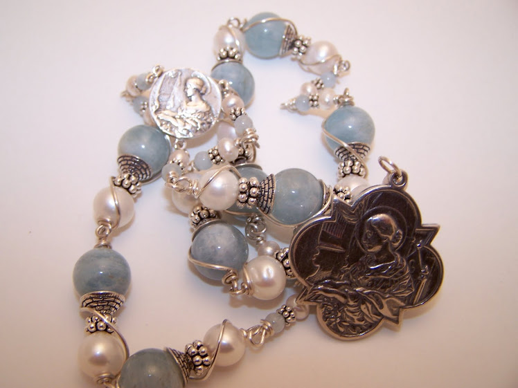 No. 75.  Custom order Of Chaplet Of St. Cecilia (SOLD)
