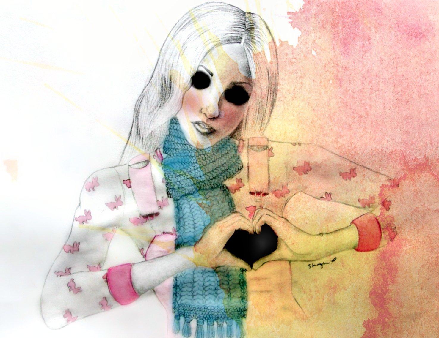 Рыжие нарисованные девушки 13 фотография