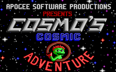 Cosmo's Cosmic Adventure title screen