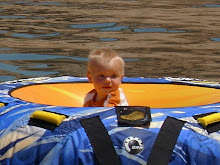 Landon's first trip to the lake