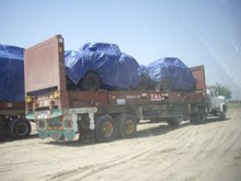 US ARMY HUMVEES BEING TRANSPORTED FROM KARACHI PORT TO AFGHANISTAN BY US IN APRIL 2009