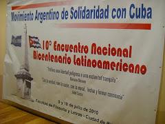10º Encuentro Nacional del Movimiento Argentino de Solidaridad con Cuba