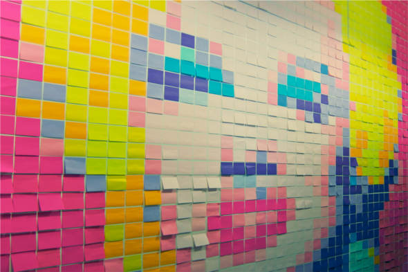 Post It Art : de poco un todo post it art ~ Frokenaadalensverden.com Haus und Dekorationen