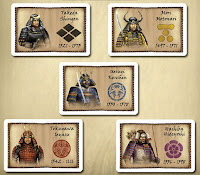 Pět vůdců soupeřících klanů
