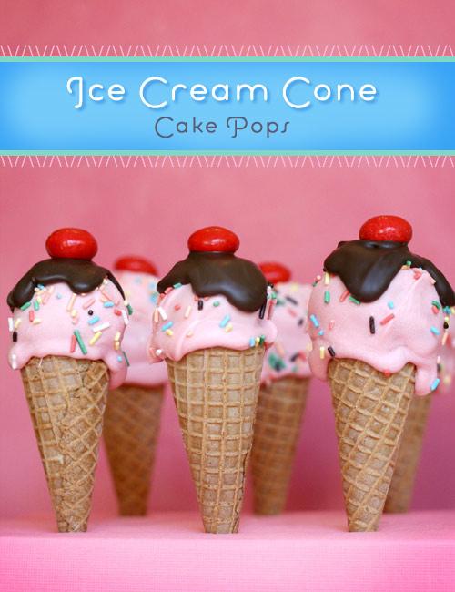 Cake Ice Cream Pops : Pluff Mudd Studio: Yummy Ice Cream Cake Pops
