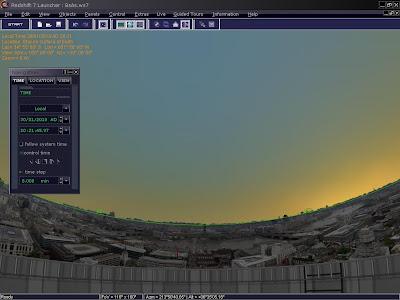 Panorama ciudad en Redshift