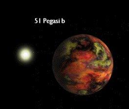 Ilustración de 51 Pegasi b