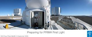 Preparando la primera luz de PRIMA