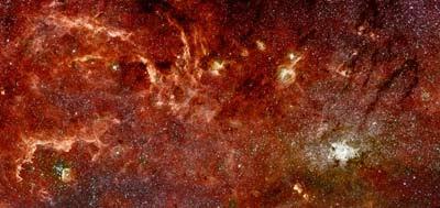núcleo galáctico de la V�a Láctea por Hubble y Spitzer