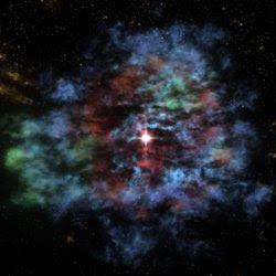Fotograma de la animación 3-D de Cas A
