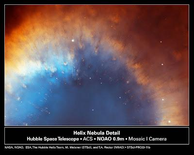 Detalle de Nebulosa planetaria Helix por Hubble