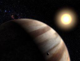 Ilustración de planeta alrededor de HD 209458