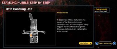 Detalle de instrumento a reparar en STS-125