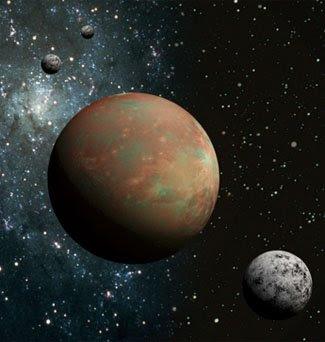 Ilustración de Plutón y Caronte