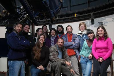Integrantes del grupo de estudio de Eta Carinae