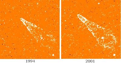 Nebulosa Guitarra en 1994 y 2001