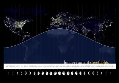Mientras la Luna orbita la Tierra, las luces se apagarían o prenderían