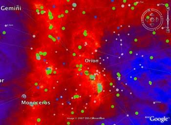 IRAS en Google Sky
