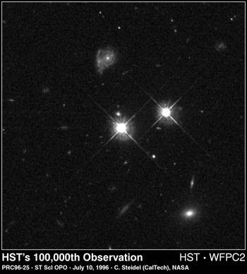 Exposición 100 mil de Hubble