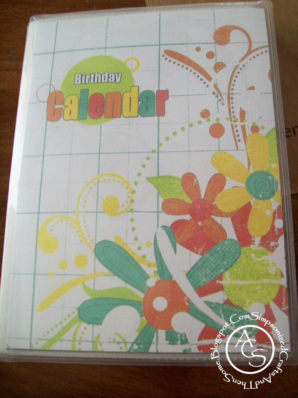 Calendar Book Printable : Simpsonized crafts free printable birthday calendar using