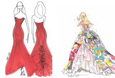 Barbie Fashion Dolls on Haute Couture   A Sneak Peek At Barbie Fashion Show Sketches