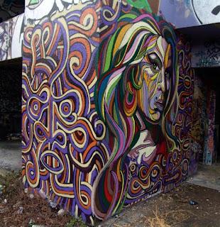 graffiti woman sketches buble - graffiti 3d buble