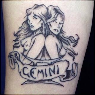 gemini tattoos zodiac sign tribal meaning symbol