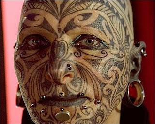 ,indian tattoos face,front tattoo,style indian face,style tattoos