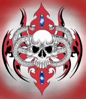 Skull Design For Tribal tattoo