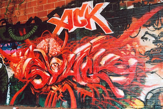 Xick Graffiti Art Design - Red Graffiti Canvas