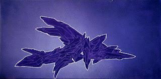 Violet Graffiti Canvas Sketches