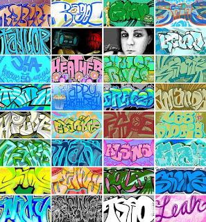 Beautifull Letters Graffiti on Facebook