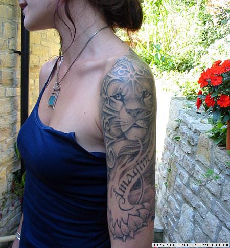 Tattoo revolution july 2010 for Half sleeve tattoo for girls