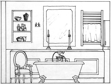 Bathroom Interior Design Sketches Creditrestore Us